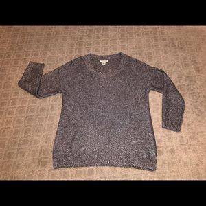 Calvin Klein silver knit sweater